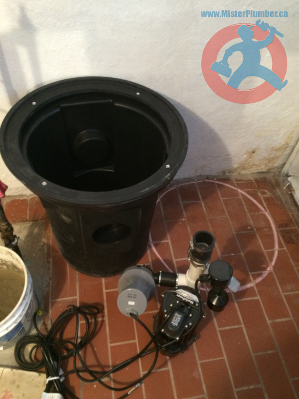 installation of sump pit and pump