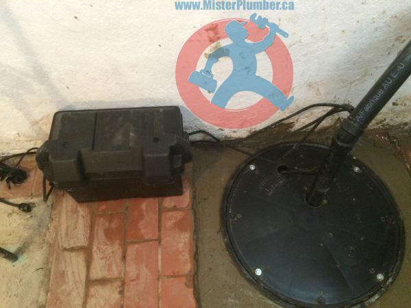 emergency battery backup pump