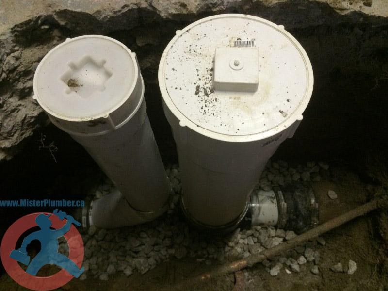 Backwater valve prepared for inspection