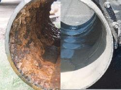 Before  After of pipe clogged-replace