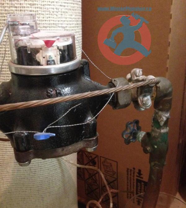 Leaky main shut off valve