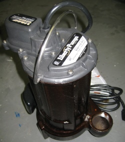 New sump pump