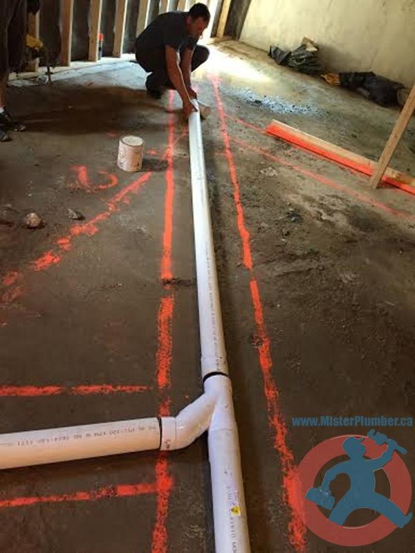 New drain pipe