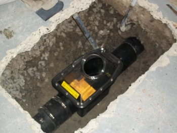 Plumber Backwater valve installation in Toronto GTA