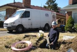 Toronto-digging pipe repairs