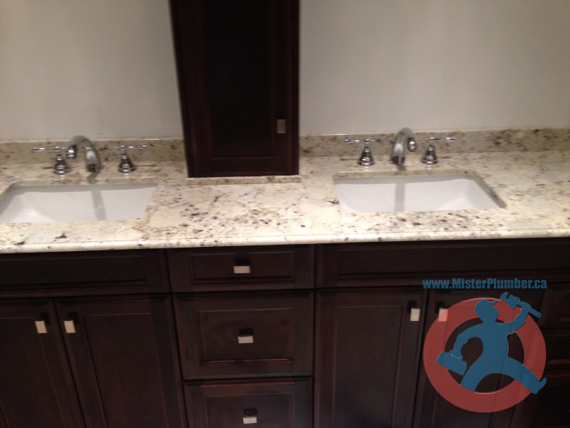 double sink installation