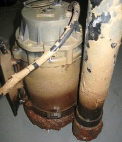 broken sump pump