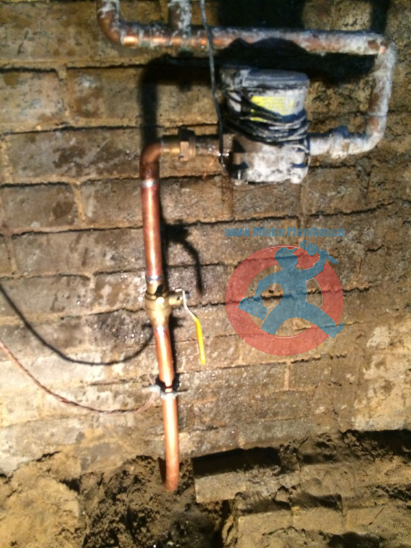 copper main waterline