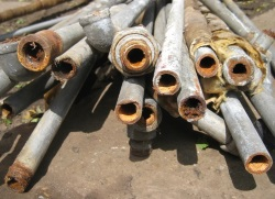 old galvanized pipes