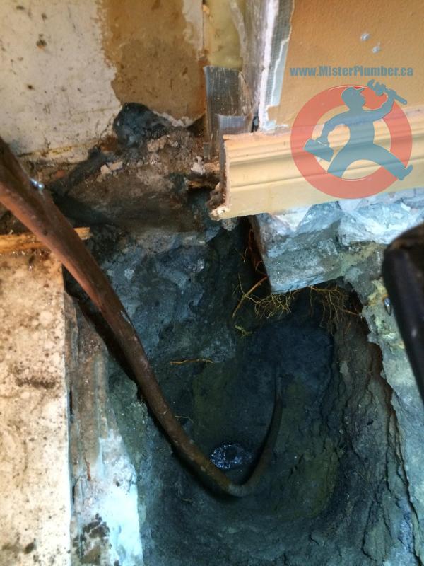 New copper waterline installed