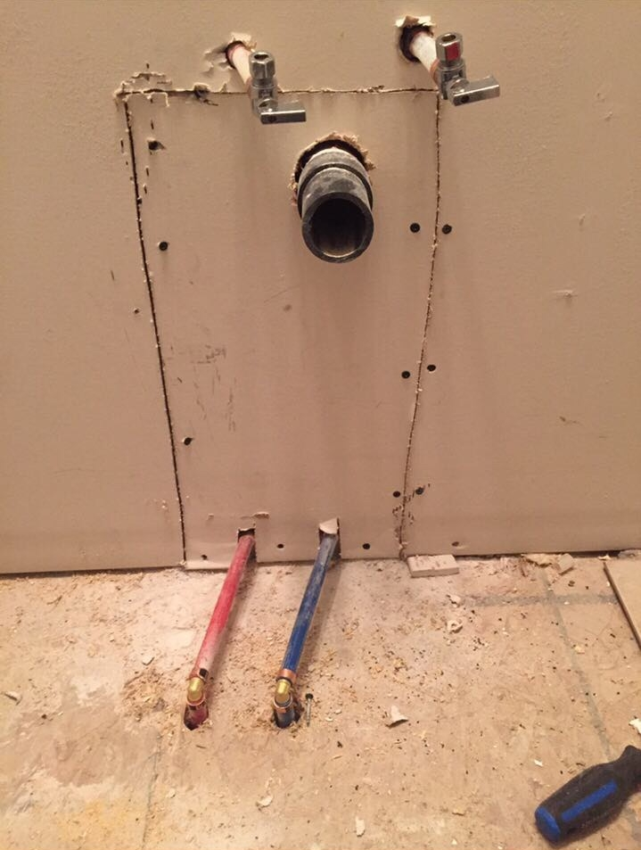 Pex water pipes relocation for new sink mister plumber for New water pipes