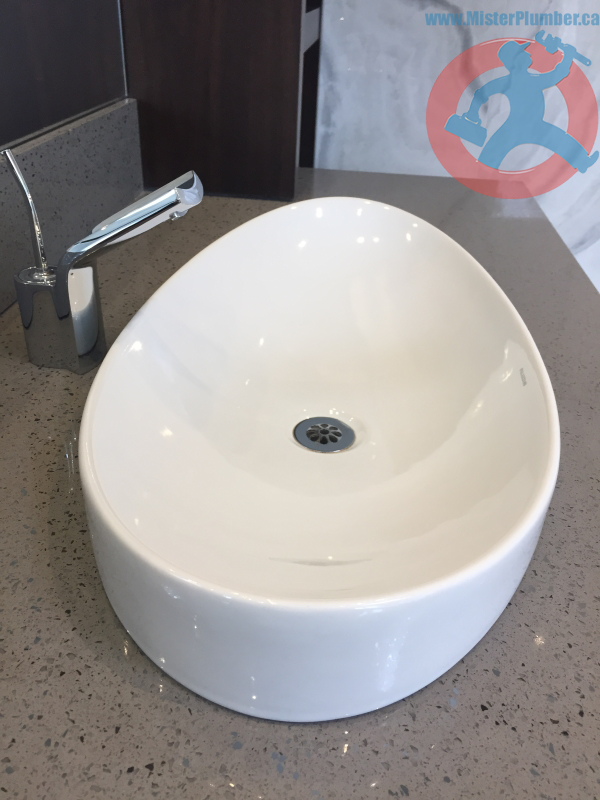 Modern washroom sink