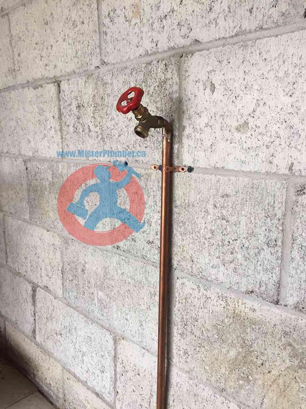 Garden tap installed