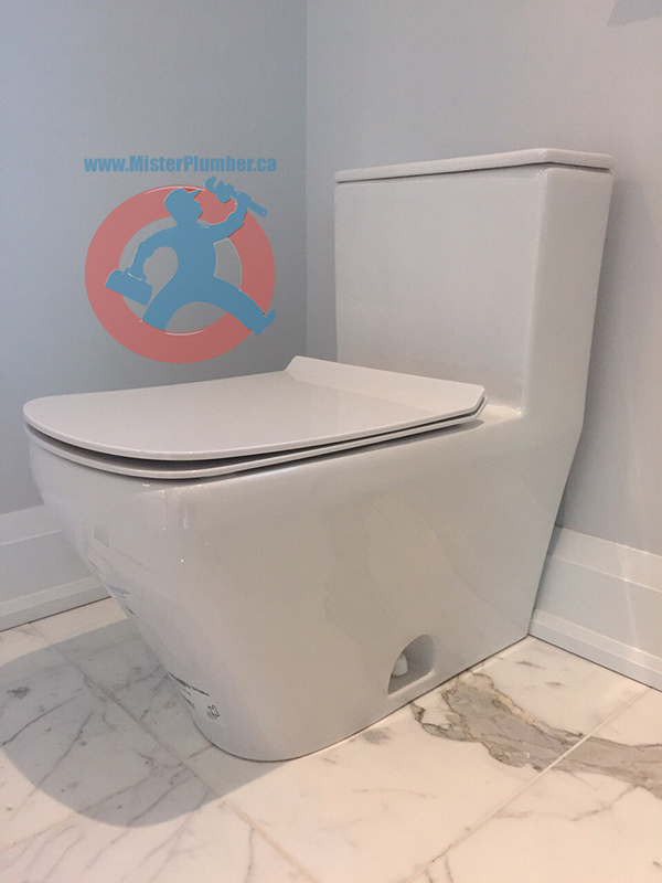 Modern toilet installation in Toronto