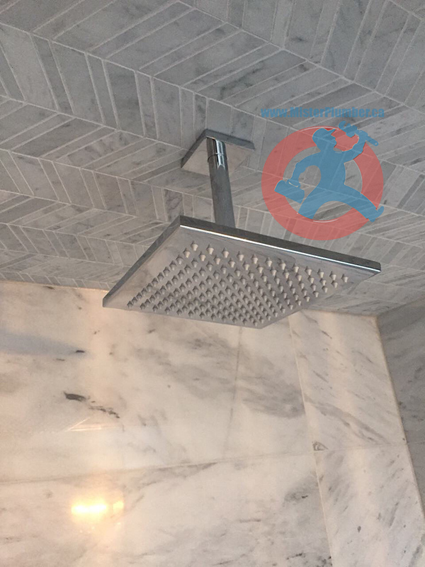 Square Rain Shower Head Installation