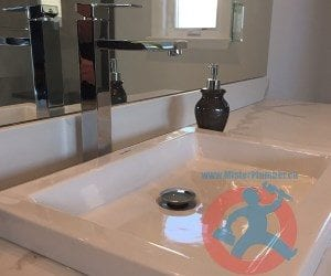 washroom sink installation min