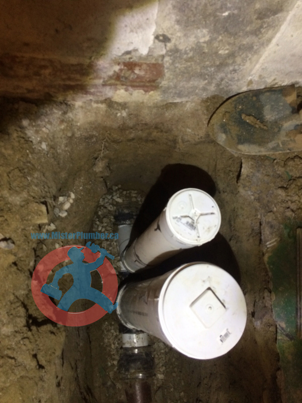 with downstream sewer clean out in toronto basement mister plumber