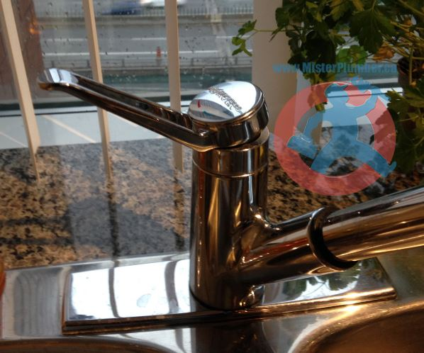 Broken kitchen faucet-s