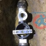 Checking installation of backwater valve s