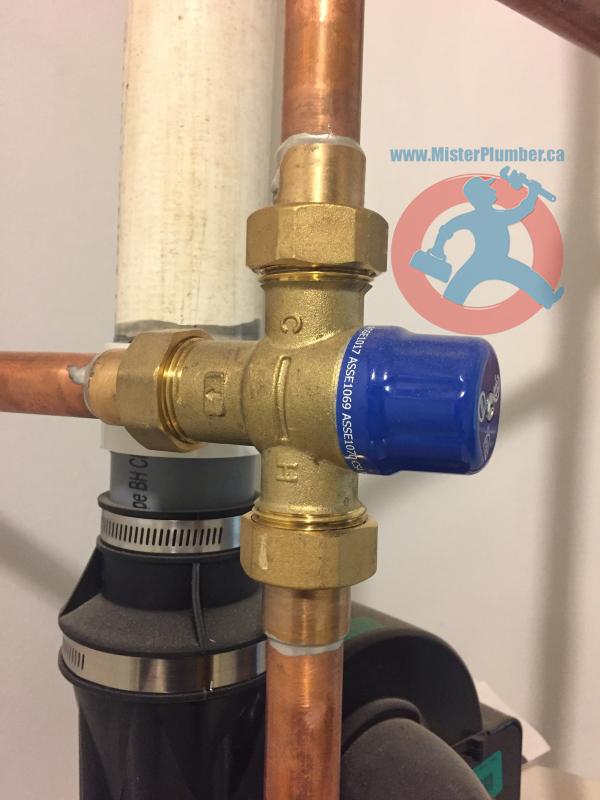 Mixing valve installation