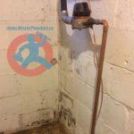 New copper water service s