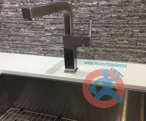compartment kitchen sink with tap-s