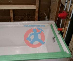 Acrylic bathtub install-s