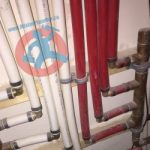 Cold and hot water pipes s