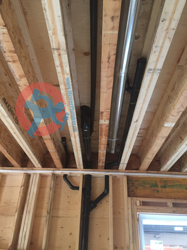 New construction drain rough in for 3pc washroom mister for New construction plumbing