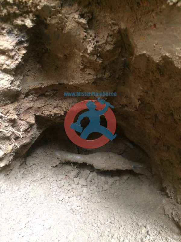 lead water pipes underground