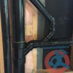 ABS drain branch with vent s