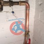 New main waterline in the basement s