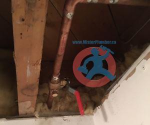 New shut off valve with drain port s