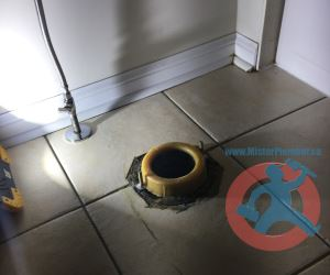 New toilet gasket on a flange s