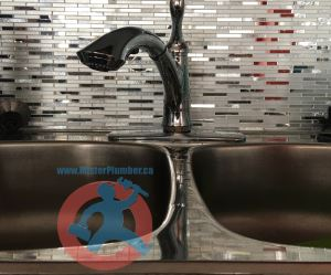 Newly replaced kitchen faucet s