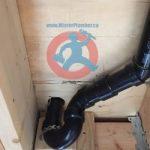 P trap installed under subfloor s