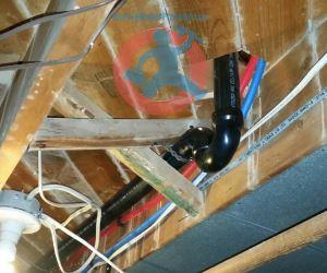 Under floor P trap installation s