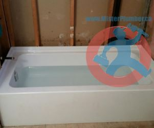 Water-test-for-newly-installed-bathtub-s