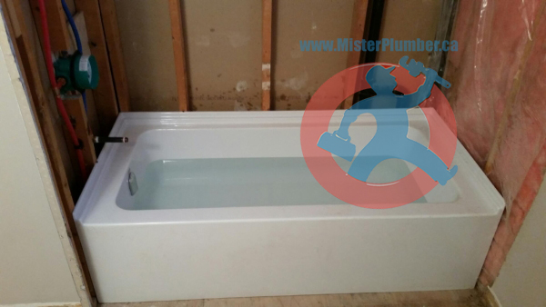 installed bathtub in Toronto