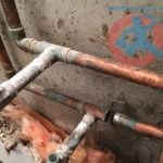 Broken copper pipe because s