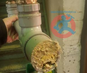 Grease collected in a pipe s