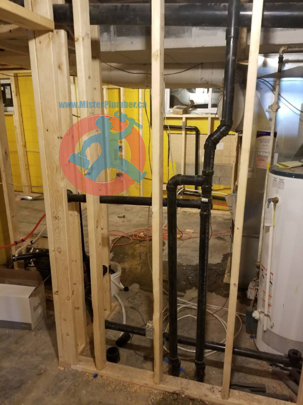 Basement plumbing upgrade
