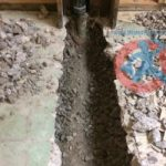 Breaking trench and digging s