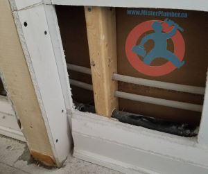 Cutting drywall to repair pipe s