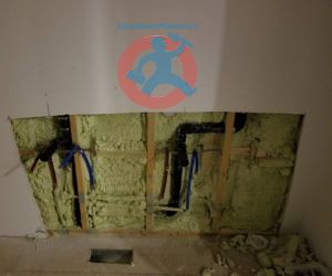 Drain and water lines s