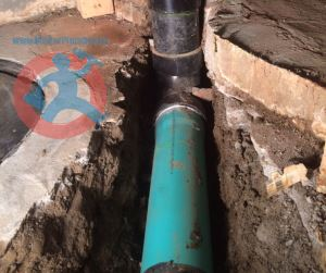 Installation of 4 ABS sewer s