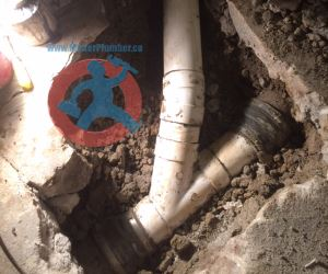 Installation of new 4 PVC pipe s