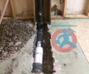 Installation of new PVC and ABS s