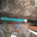 Old cast iron drain pipe replace s