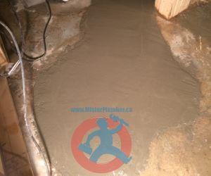 Re cementing of broken floor s